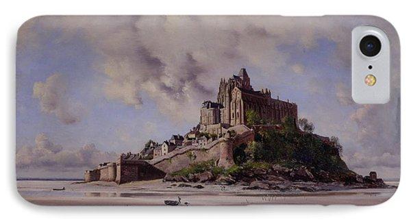 Mont Saint Michel Phone Case by Emmanuel Lansyer