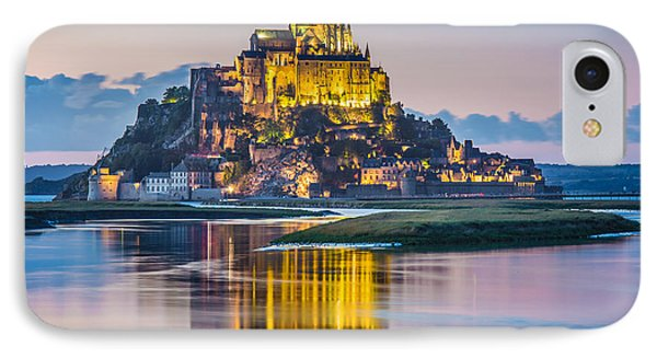 Mont Saint-michel In Twilight IPhone Case by JR Photography