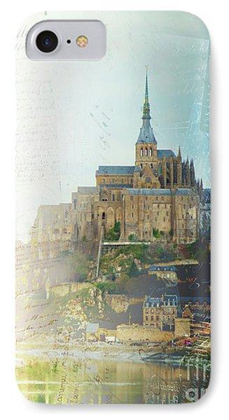 Mont St Michel Postcard IPhone Case by Anastasy Yarmolovich