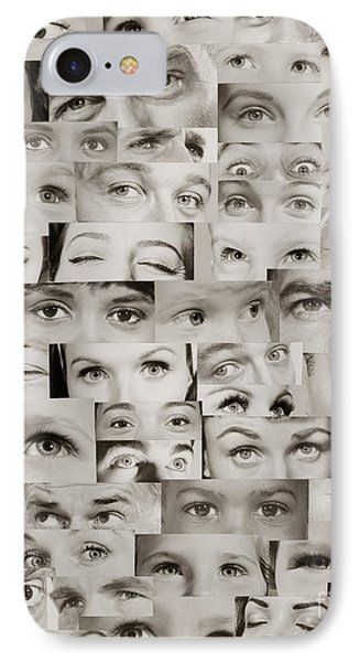 Montage Of Eyes, C.1960s IPhone Case by H. Armstrong Roberts/ClassicStock