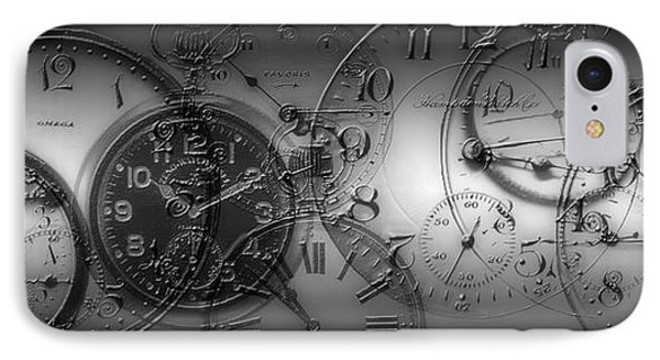 Montage Of Old Pocket Watches IPhone Case by Panoramic Images