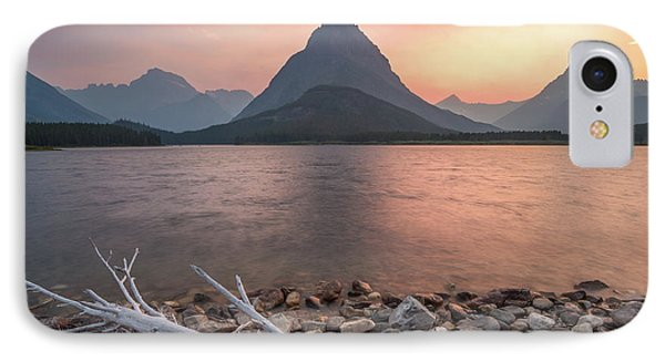 Montana Gold // Swiftcurrent Lake, Glacier National Park  IPhone Case by Nicholas Parker