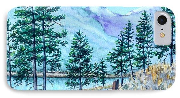 Montana Lake Como With Bench IPhone Case