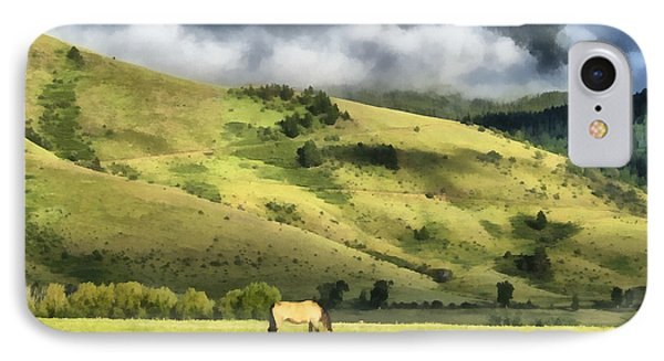 Montana Ranch Landscape IPhone Case by Edward Fielding