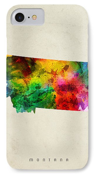 Montana State Map 01 IPhone Case