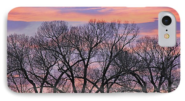 IPhone Case featuring the photograph Montana Sunrise Tree Silhouette by Jennie Marie Schell