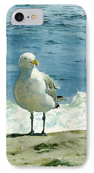 Shore iPhone 7 Case - Montauk Gull by Tom Hedderich