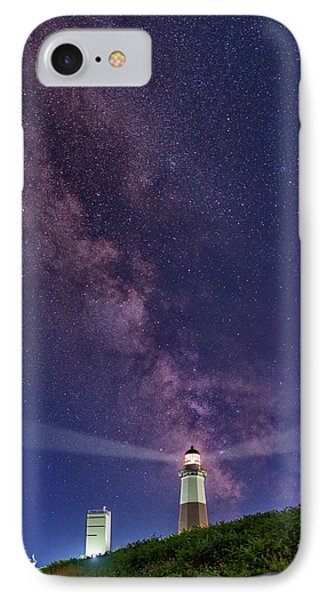 Montauk Point And The Milky Way Phone Case by Rick Berk