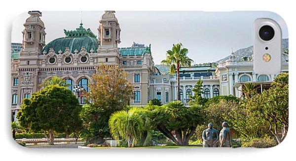Monte Carlo Casino And Gardens, Monaco IPhone Case by Elena Elisseeva