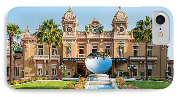 Monte Carlo Casino And Sky Mirror In Monaco IPhone Case by Elena Elisseeva