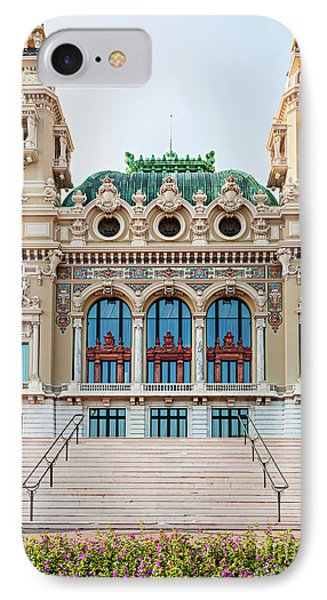 Monte Carlo Casino In Monaco IPhone Case by Elena Elisseeva
