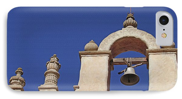 IPhone Case featuring the photograph Montecito Mt. Carmel Church Tower by Art Block Collections