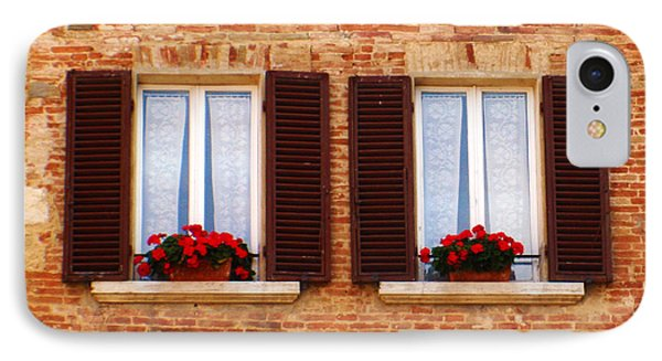 Montepulciano Window IPhone Case by Rob Tullis