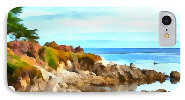 IPhone Case featuring the photograph Monterey Coastline Watercolor by Floyd Snyder