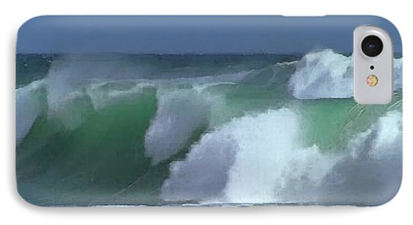 IPhone Case featuring the digital art Monterey Surf by Walter Chamberlain