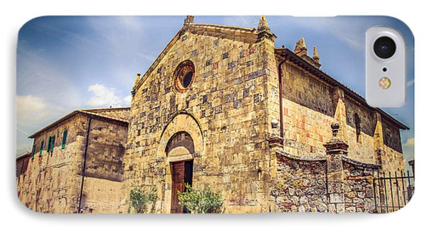 Monteriggioni Main Church IPhone Case by Luca Lorenzelli