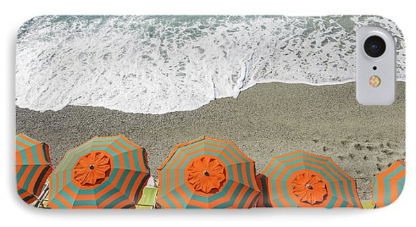 Monterosso Umbrellas IPhone Case by Brad Scott