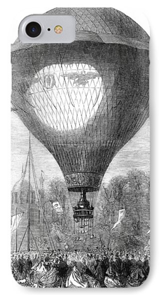 Montgolfier Balloon, 1864 Phone Case by Granger