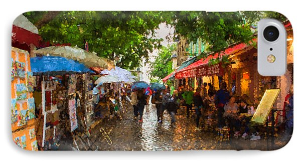 IPhone Case featuring the photograph Montmartre Art Market, Paris by Carl Amoth