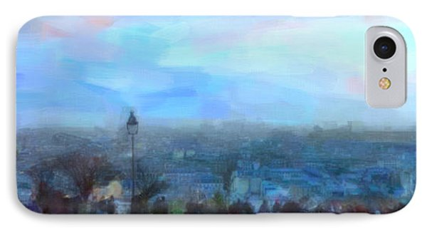 IPhone Case featuring the painting Montmartre From The Butte by Chris Armytage