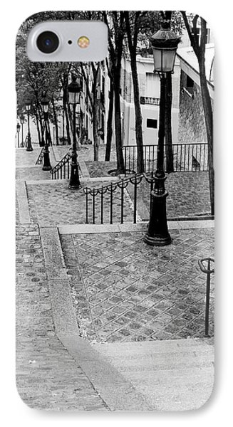 Montmartre Stairway Paris IPhone Case by Pierre Leclerc Photography