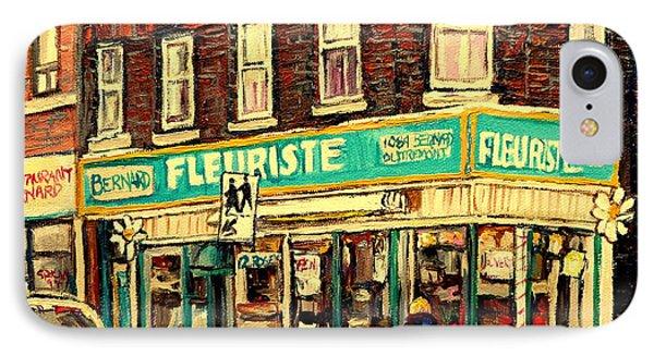 Montreal Cityscenes By Streetscene Artist Carole Spandau Phone Case by Carole Spandau
