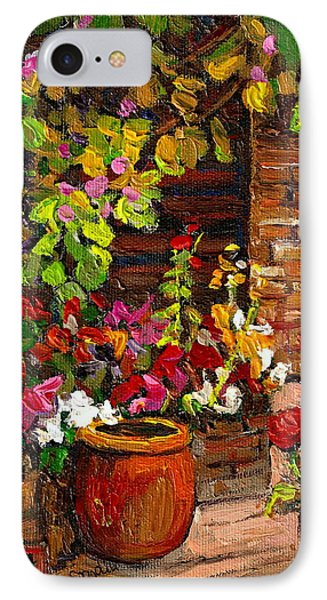 Montreal Cityscenes Homes And Gardens Phone Case by Carole Spandau