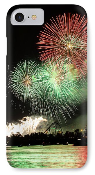 Montreal-fireworks IPhone 7 Case by Mircea Costina Photography