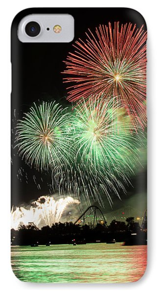 Montreal-fireworks IPhone Case by Mircea Costina Photography