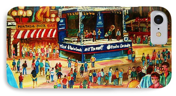 Montreal Jazz Festival Phone Case by Carole Spandau