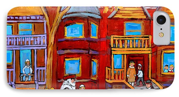 Montreal Memories Of Zaida And The Family Phone Case by Carole Spandau