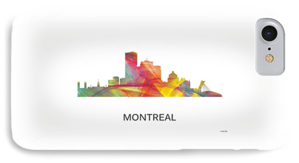 Montreal Que.skyline IPhone Case by Marlene Watson