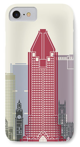 Montreal Skyline Poster IPhone Case by Pablo Romero