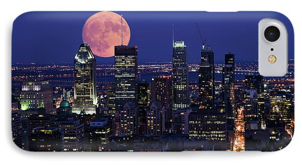 IPhone Case featuring the photograph Montreal Supermoon by Mircea Costina Photography