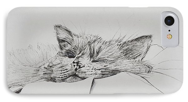 Monty  Sleepy Boy IPhone Case by Vincent Alexander Booth
