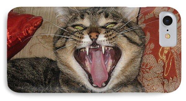 Monty's Yawn Phone Case by Jolanta Anna Karolska