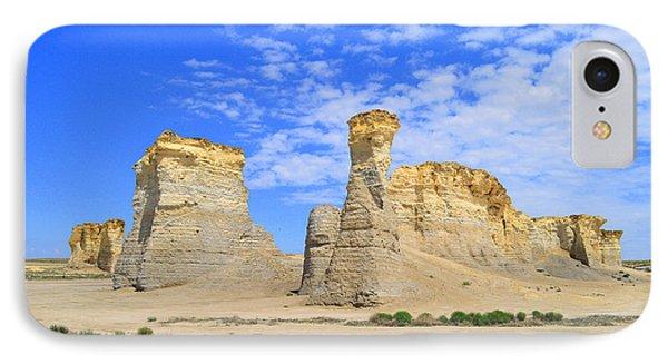 Monument Rocks In Kansas 2 IPhone Case