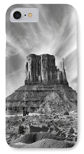 Monument Valley - Left Mitten 2bw IPhone Case by Mike McGlothlen