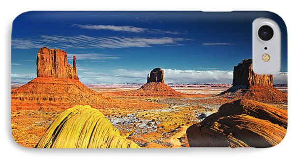 Monument Valley Mittens Utah Usa IPhone Case by Sam Antonio