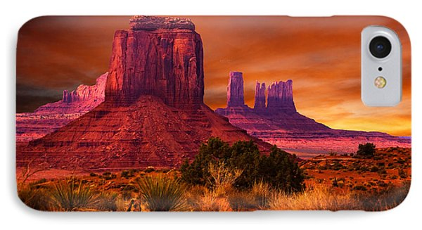 Monument Valley Sunset IPhone Case by Harry Spitz