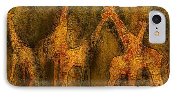 Moods Of Africa - Giraffes IPhone Case by Carol Cavalaris