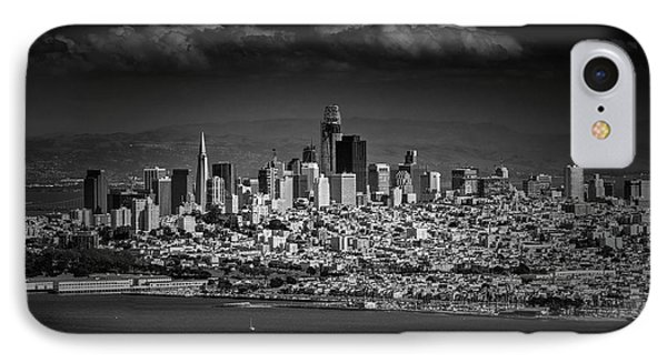 Moody Black And White Photo Of San Francisco California Phone Case by Steven Heap