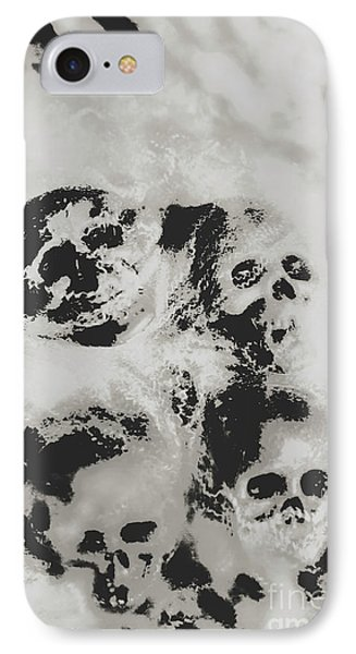 Moody Dramatic Cobwebby Skull Artwork IPhone Case by Jorgo Photography - Wall Art Gallery