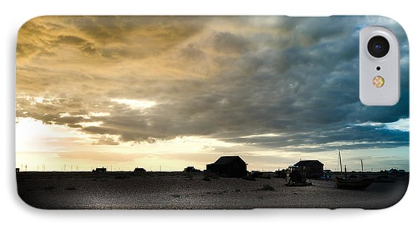 Moody Sky, Dungeness Beach  IPhone Case