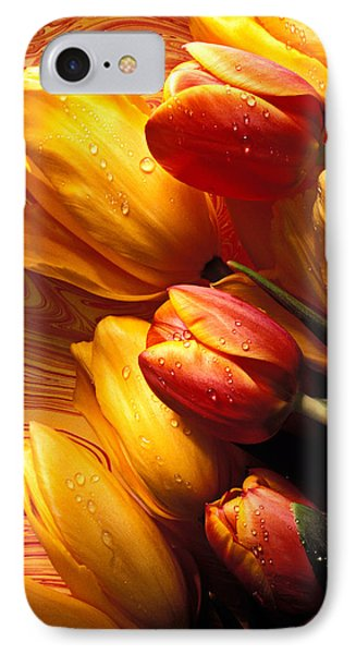 Moody Tulips Phone Case by Garry Gay