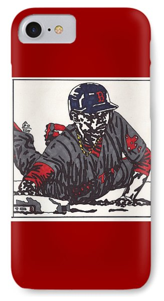 Mookie Betts 1  IPhone Case by Jeremiah Colley