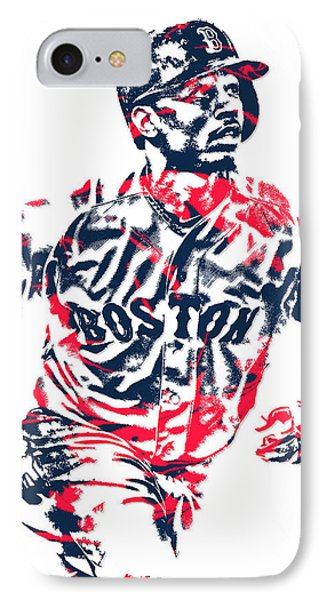 Mookie Betts Boston Red Sox Pixel Art 2 IPhone Case