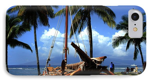Moolele Canoe At Hui O Waa Kaulua Lahaina Phone Case by Sharon Mau