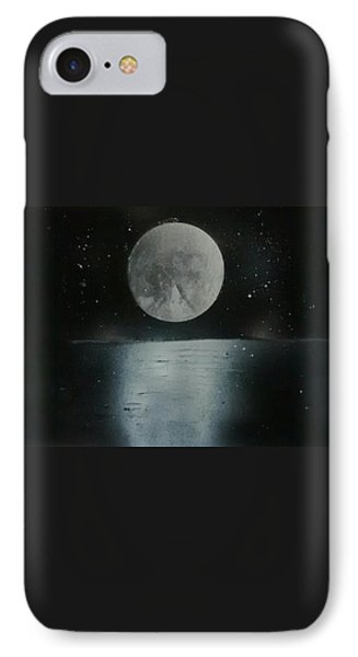 Moon And Its Reflection IPhone Case by Prashant Soni