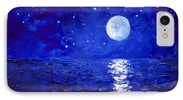 Moon And Stars Painting IPhone Case